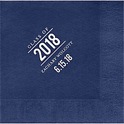 Graduation Bulletin Custom Lunch Napkins