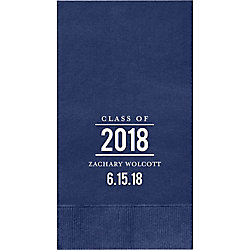 Graduation Bulletin Custom Guest Napkins