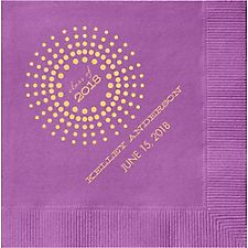 Graduation Burst Custom Cocktail Napkins