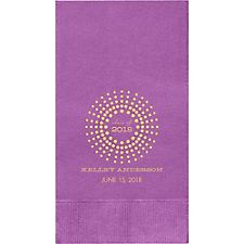 Graduation Burst Custom Guest Napkins