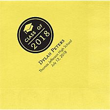 Graduation Button Custom Lunch Napkins