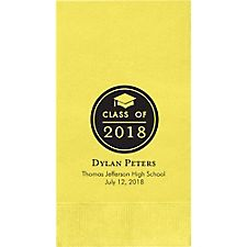 Graduation Button Custom Guest Napkins