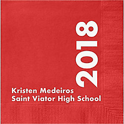 Class Year Graduation Custom Cocktail Napkins