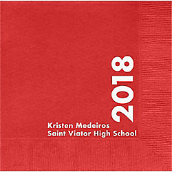 Class Year Graduation Custom Lunch Napkins