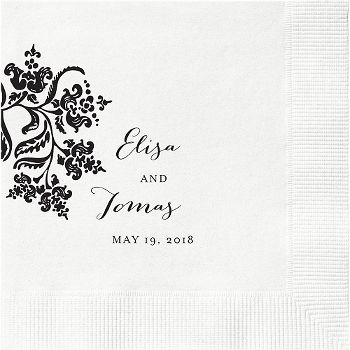 Colonial Stencil Custom Cocktail Napkins