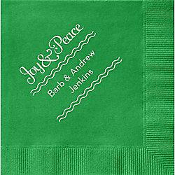 Joy & Peace Custom Cocktail Napkins