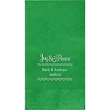 Joy & Peace Custom Guest Napkins