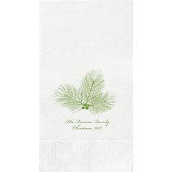 Pine Branch Custom Guest Napkins