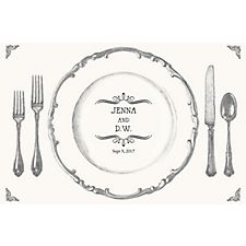 Place Setting Custom Placemats - Vintage Marquis