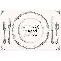 Place Setting Custom Placemats - Ampersand