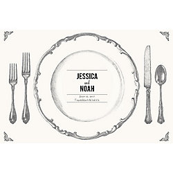 Place Setting Custom Placemats - Playbill