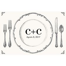 Place Setting Custom Placemats - Initials