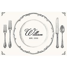 Place Setting Custom Placemats - Script Single Name