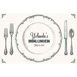 Place Setting Custom Placemats - Sweet Script
