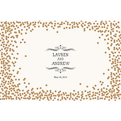 Gold Confetti Custom Placemats - Vintage Marquis