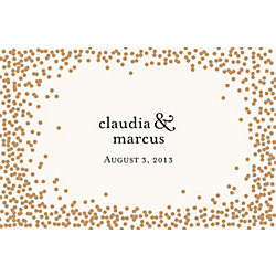 Gold Confetti Custom Placemats - Ampersand