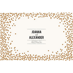 Gold Confetti Custom Placemats - Playbill