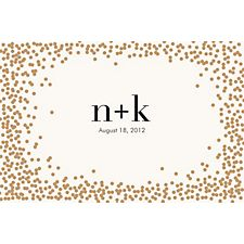 Gold Confetti Custom Placemats - Initials