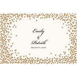 Gold Confetti Custom Placemats - Script Couple