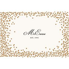 Gold Confetti Custom Placemats - Script Single Name