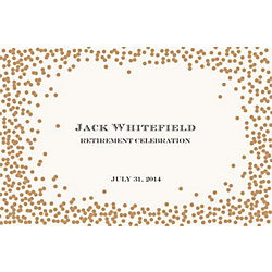 Gold Confetti Custom Placemats - Escorial