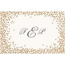 Gold Confetti Custom Placemats - Monogram