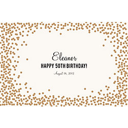Gold Confetti Custom Placemats - Sweet Script