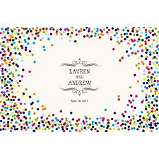 Color Confetti Custom Placemats - Vintage Marquis