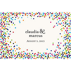 Color Confetti Custom Placemats - Ampersand