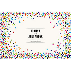 Color Confetti Custom Placemats - Playbill