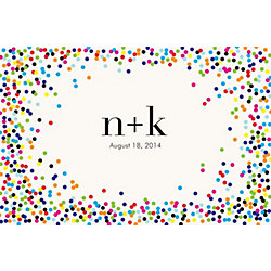 Color Confetti Custom Placemats - Initials