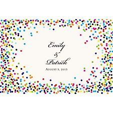 Color Confetti Custom Placemats - Script Couple