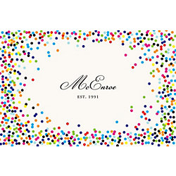 Color Confetti Custom Placemats - Script Single Name