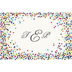 Color Confetti Custom Placemats - Monogram