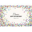 Color Confetti Custom Placemats - Sweet Script