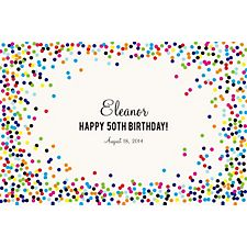 Color Confetti Custom Placemats - Sweet Script
