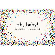 Color Confetti Custom Placemats - Lowercase Serif