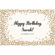 Gold Confetti Custom Placemats - Script Birthday