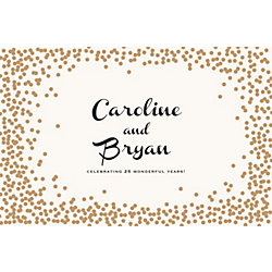 Gold Confetti Custom Placemats - Paris Script Couple