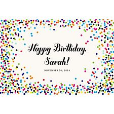 Color Confetti Custom Placemats - Script Birthday