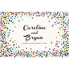 Color Confetti Custom Placemats - Paris Script Couple