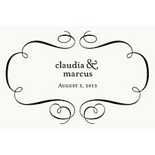 Flourish Custom Placemats - Ampersand