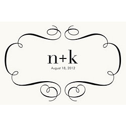 Flourish Custom Placemats - Initials
