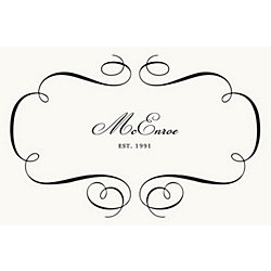 Flourish Custom Placemats - Script Single Name