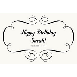 Flourish Custom Placemats - Script Birthday