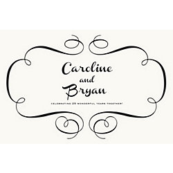 Flourish Custom Placemats - Paris Script Couple