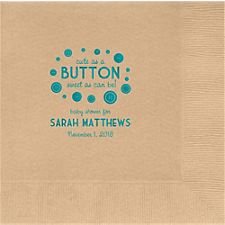 Button Baby Shower Custom Lunch Napkins