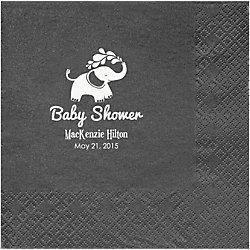 Elephants Baby Shower Custom Lunch Napkins