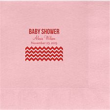 Multi Chevron Custom Lunch Napkins