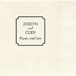 Classic Frame Custom Lunch Napkins